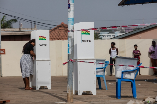 Voting day. Ghana's Presidential and Parliamentary Elections 2016. Awudome-Ghana. December 7, 2016. Photo: Francis Kokoroko